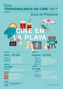 Cartel cine de verano Torremolinos