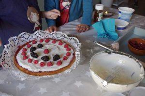 Elaboración de la tarta
