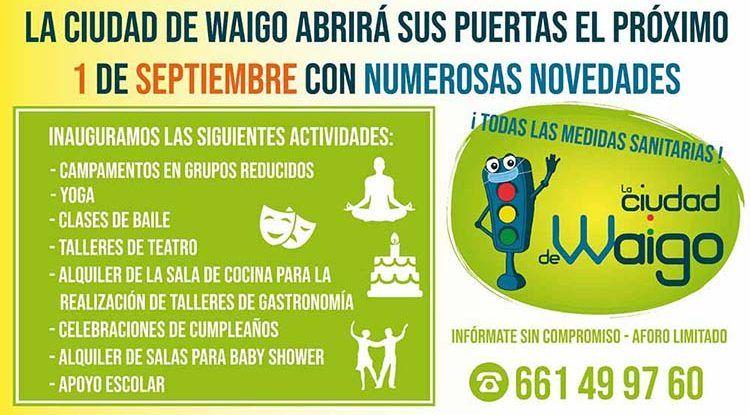 Reabre La Ciudad de Waigo: lugar de referencia para el ocio infantil en Málaga