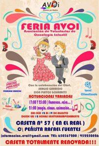Cartel AVOI caseta Feria de Málaga 2017