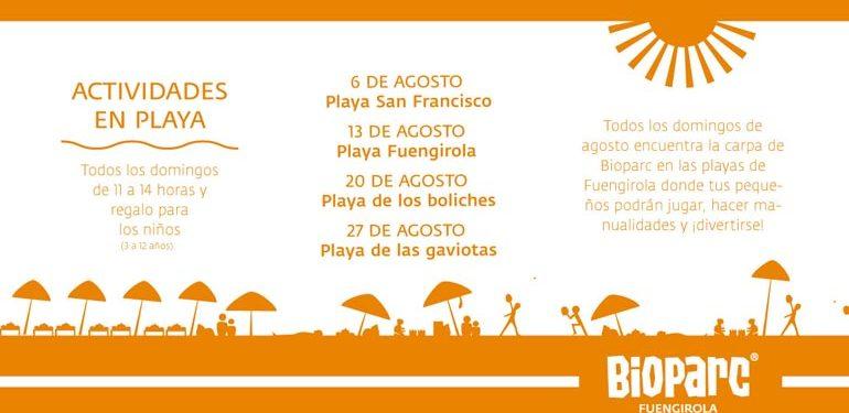 Juego para niños en las playas de Fuengirola
