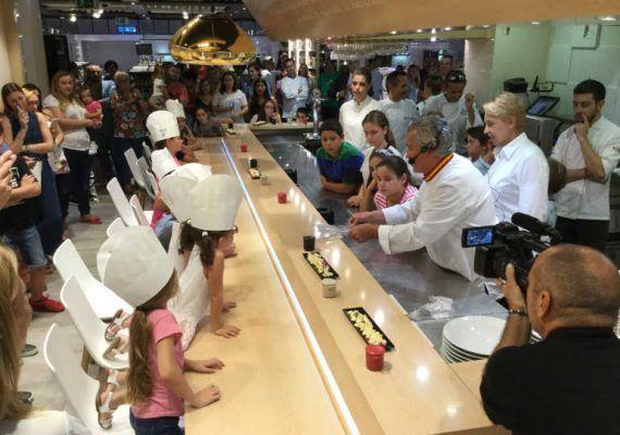 Taller de cocina infantil en El Txoko de Luis Salinero