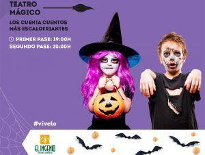 Teatro y pintacaras de Halloween para niños en El Ingenio de Vélez-Málaga