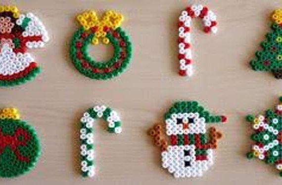 figuras navideñas hama