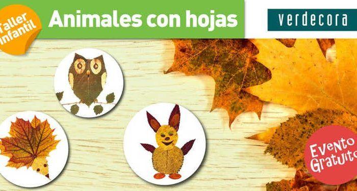 Taller infantil animales con hojas en verdecora m laga for Horario verdecora