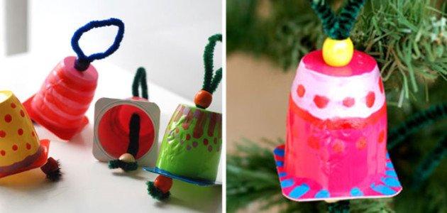 Manualidades De Navidad Campanas.Faciles Adornos De Navidad Para Hacer Con Los Peques