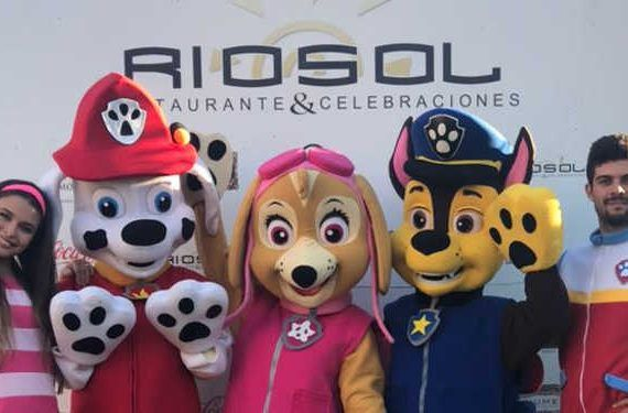 Restaurante Riosol fiesta para niños Patrulla Canina