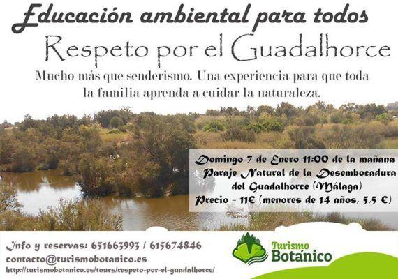 turismo botánico río Guadalhorce