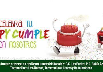 Cumpleaños en McDonald's® en Málaga, Benalmádena y Torremolinos