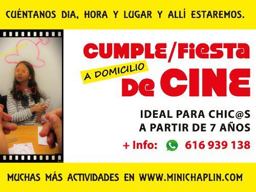 Haz que tu hijo sea una estrella de cine en su cumpleaños con Minichaplin