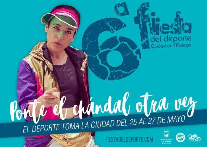 Cartel Fiesta del Deporte Málaga 2018