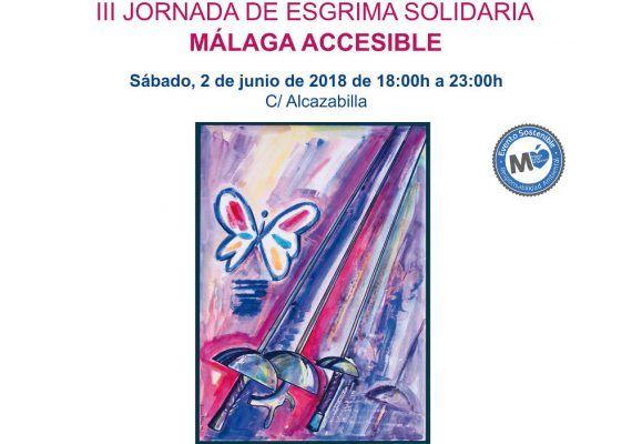 Cartel III Jornada de Esgrima Solidaria Málaga Accesible