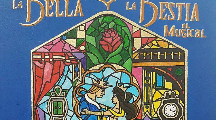 Cartel Musical La Bella y la Bestia en Torrox
