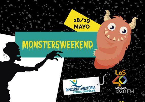 Cartel evento MonstersWeekend en Centro Comercial del Rincón - copia