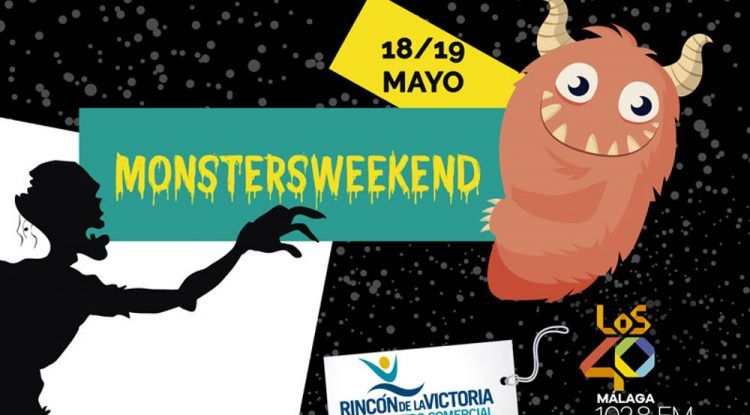 Cartel evento MonstersWeekend en Centro Comercial del Rincón - copia