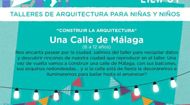 Cartel taller Una calle de Málaga de Mahatma