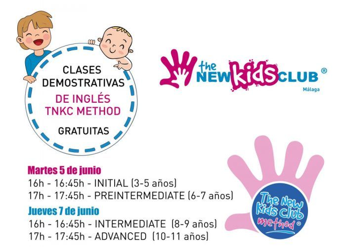 Clases demostrativas gratuitas de inglés The New Kids Club