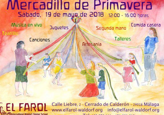 Cartel Mercadillo Primavera 2018 Escuela Waldorf