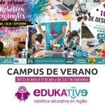 Cartel Robotic Summer Camp Edukative Málaga