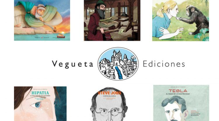 Genios de la ciencia, colección de libros Vegueta