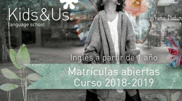 Abierto el plazo de matriculación de inglés para niños en las escuelas Kids&Us Málaga para el curso 2018-2019