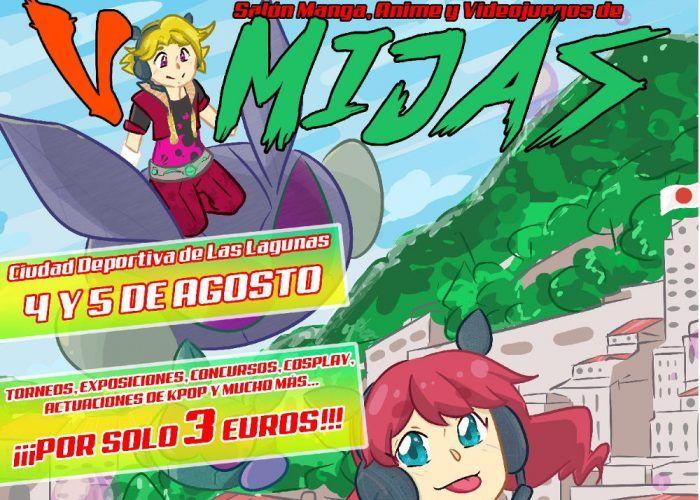 Cartel V Salon Manga Anime y Videojuegos de Mijas