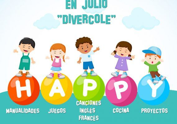Cartel aula de verano 'Divercole' de Antequera