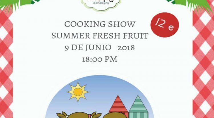 Cartel taller de cocina en el Club Happy en junio