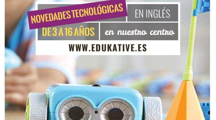 Robótica educativa en inglés para niños en Edukative Málaga para el curso 2018