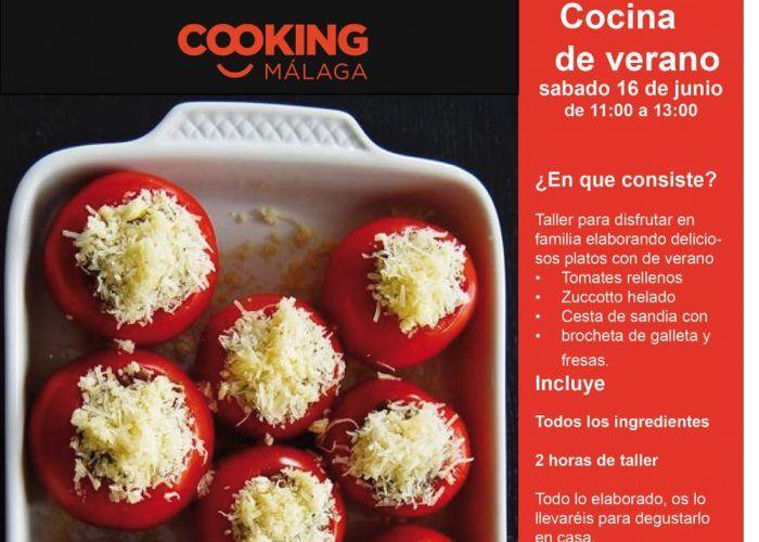 Taller de cocina para toda la familia con recetas veraniegas en Cooking el 16 de junio