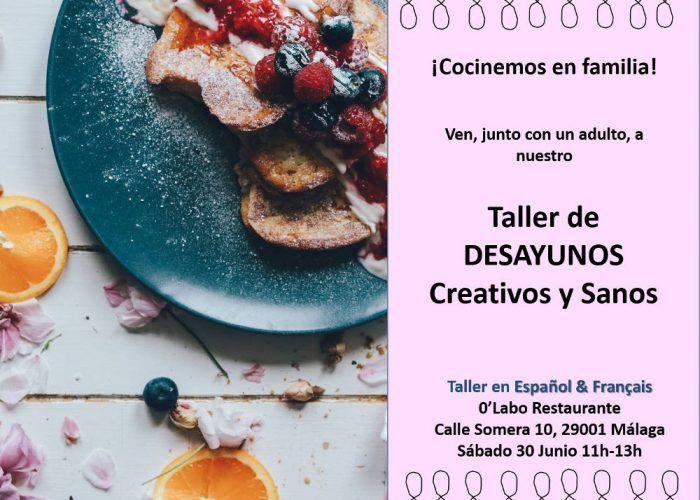 Taller de desayunos creativos y sanos para toda la familia en Málaga