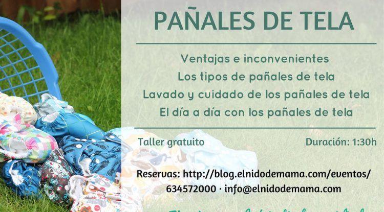 Talleres gratuitos de pañales de tela en Málaga