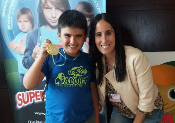 Asiel Ortega. Alumno de Aloha Mental Málaga para el Campeonato Mundial de Cálculo