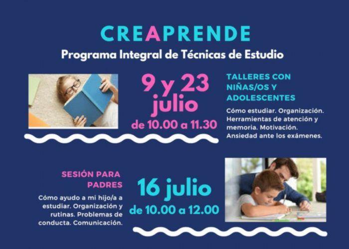 Cartel actividad CreAprende de CreAciendo Málaga