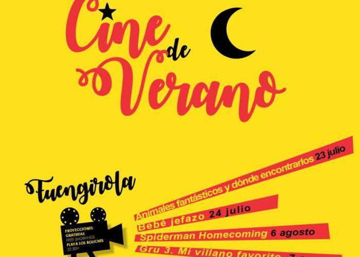 Cine de verano gratis para niños en Fuengirola