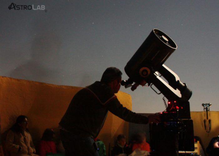 Observaciones astronómicas en familia con Astrolab (Yunquera) en febrero 2019