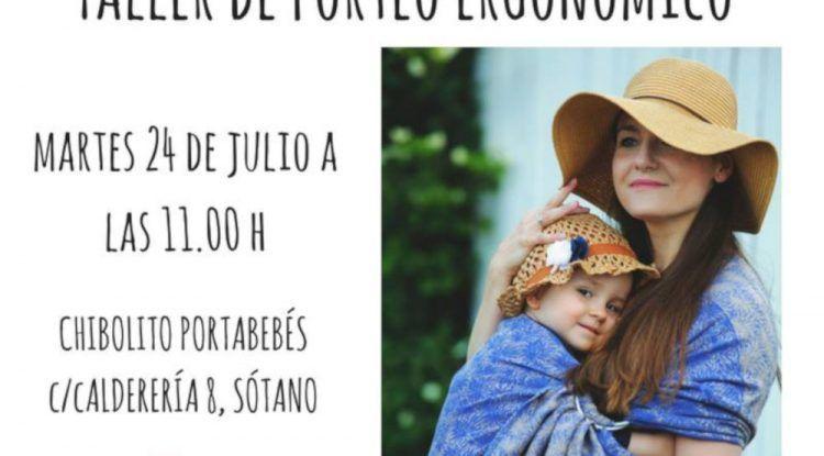 Taller de portabebés en Málaga con Chibolito