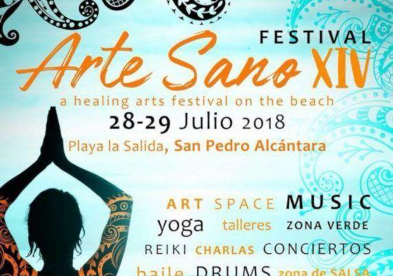 Taller gratuito de masaje tailandés para niños y adultos con Renova Thermal en el Festival Arte Sano de Marbella