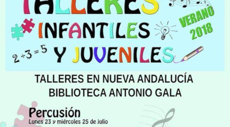 Talleres gratuitos para niños en Marbella este verano