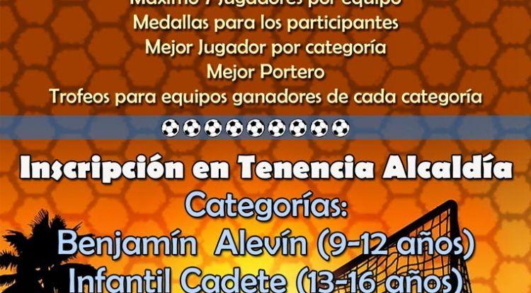 torneo de fútbol playa en Caleta de Vélez