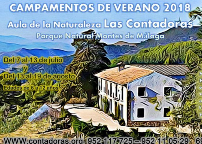 Campamento de verano para niños en agosto con Las Contadoras en Málaga