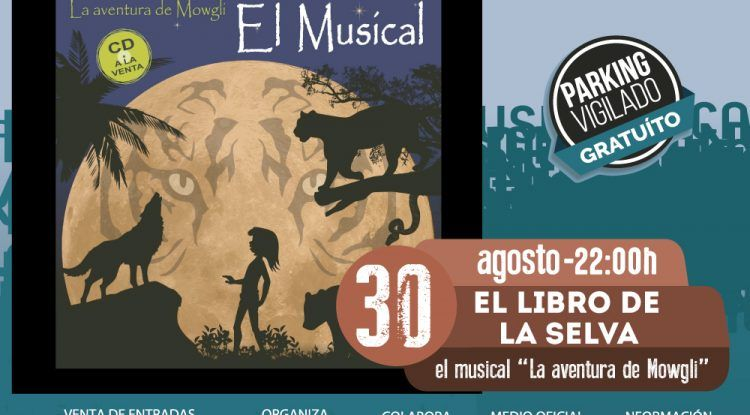 Musical infantil sobre El libro de la Selva en el Auditorio de Benalmádena