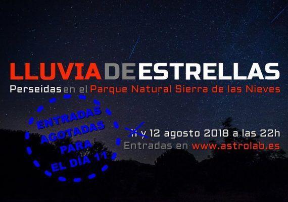 Observaciones astronómicas con niños y lluvia de Perseidas en agosto en Astrolab, Yunquera
