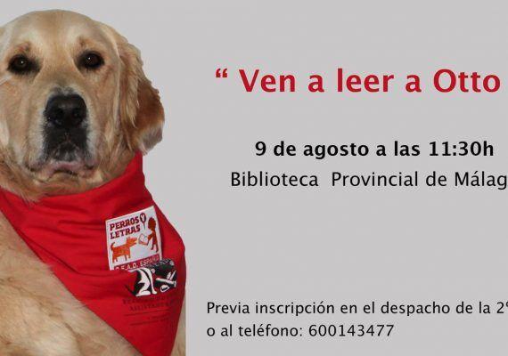 Taller de lectura para niños con el perro Otto en la Biblioteca Provincial de Málaga