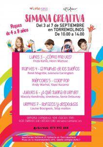 Semana creativa para niños en Torremolinos con Artenanos en septiembre