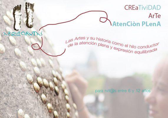 Ciclo de talleres infantiles sobre creatividad, arte y atención plena en Málaga con ArqueoRutas 2019