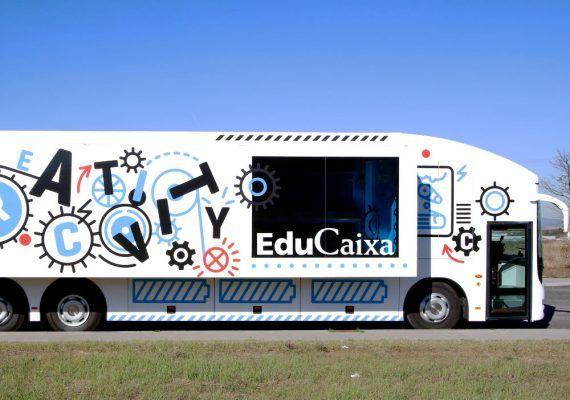 Espacio interactivo de la Caixa para niños con talleres sobre creatividad en Málaga