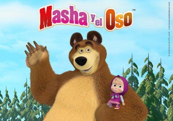 Juegos y actividades infantiles sobre Masha y el Oso en el CC Miramar Fuengirola en septiembre