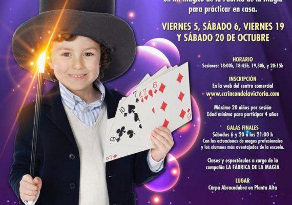 Escuela de magia gratis para niños en el Centro Comercial Rincón de la Victoria