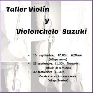 Taller para peques en familia: aprende a tocar el violín con el Método Suzuki